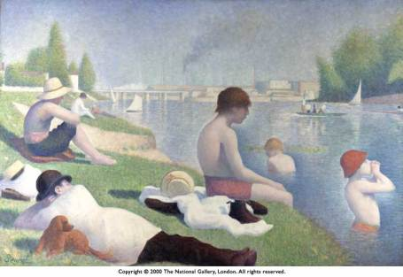 Georges Seurat - Bathers at Asnieres, 1883-1884