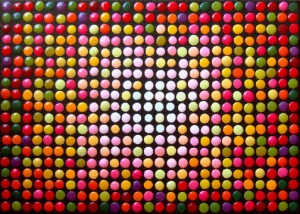 Dots 9 (Candy-Colored Dots) painting by Barbara J Carter