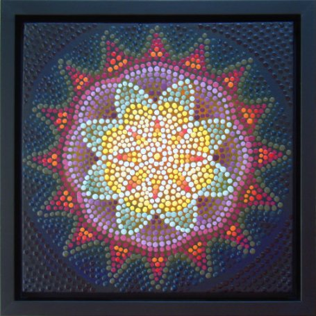 """Mandala"" painting by Barbara J Carter"