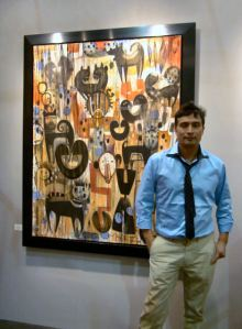 Tony Abeyta at the LA Art Show 2011, photo by Barbara J Carter