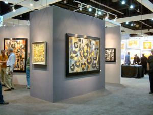 Blue Rain Gallery's booth at 2011 LA Art Show, photo by Barbara J Carter