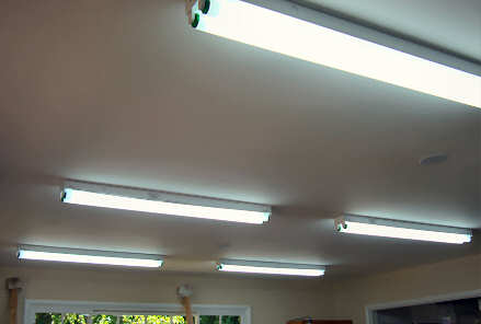 New lights in Barbara J Carter's art studio