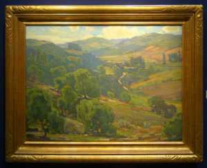 "William Wendt, ""Ranch in the Valley,"" oil on canvas, 30x40 inches."