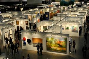 LA Art Fair 2012 aerial view